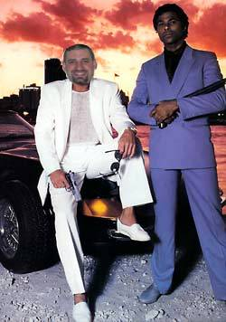 Chad The Developer moonlighting on the set of Miami Vice.