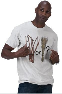 Sticks or straw t-shirt front