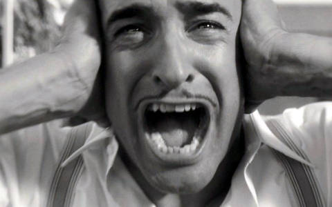 Jean Dujardin freaking out
